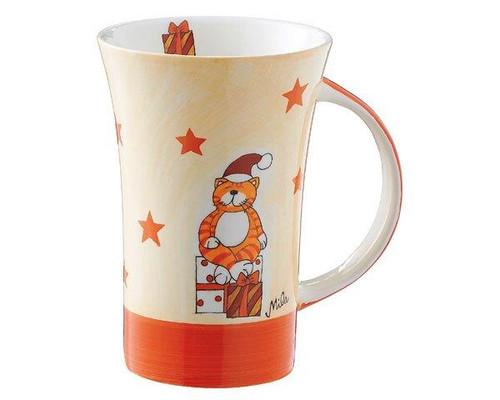Christmas Mug - Oommh cat Coffee Mug with Christmas presents - large handle - 500 ml - ceramic
