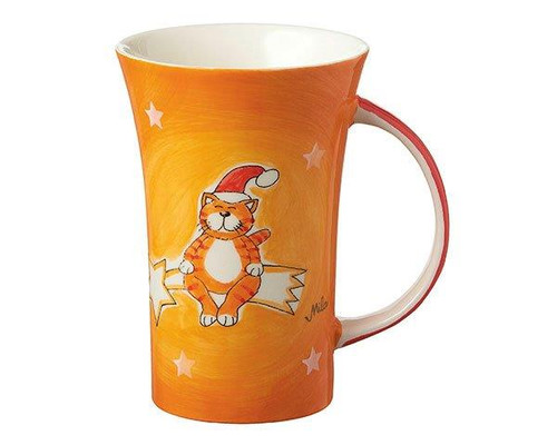 Christmas Mug - Santa Oommh cat Coffee Mug - large handle - 500 ml - Ceramic