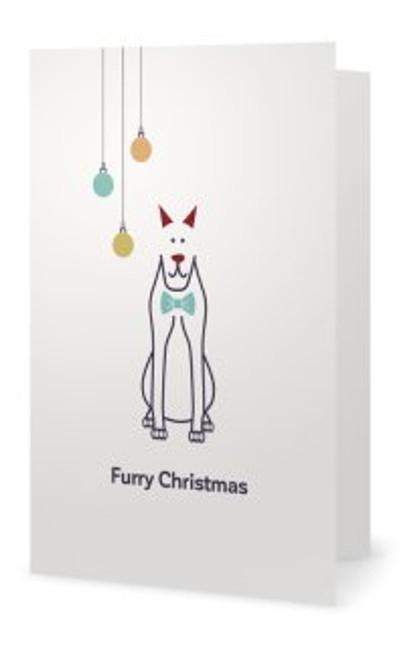 """Animales Christmas Card """"Furry Christmas"""""""