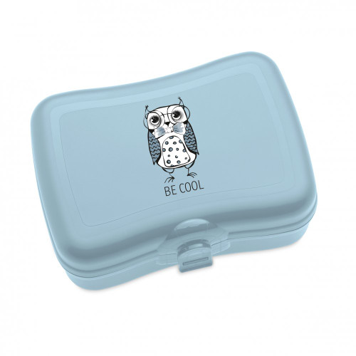"Koziol Elli Owl design food/non food storage boxes ""Stay cool"" - blue - BPA free - Made in Germany"