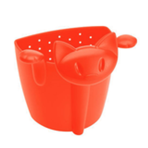 Koziol MIAOU - Cat shaped Tea strainer - orange-red - BPA free- Made in Germany
