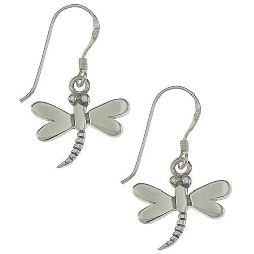 Dragonfly Earrings - 2.5 cm drop - .925 Sterling Silver