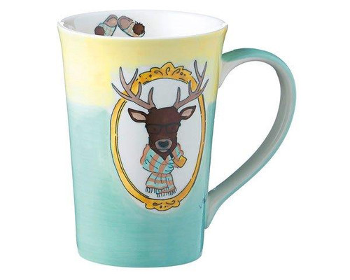 Tea Mug - Deer Baron von Hirschhausen - 350 ml -Ceramic