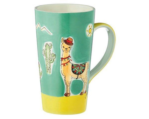 Cafe Latte Mug - Llama Spucki - 350 ml - Ceramic