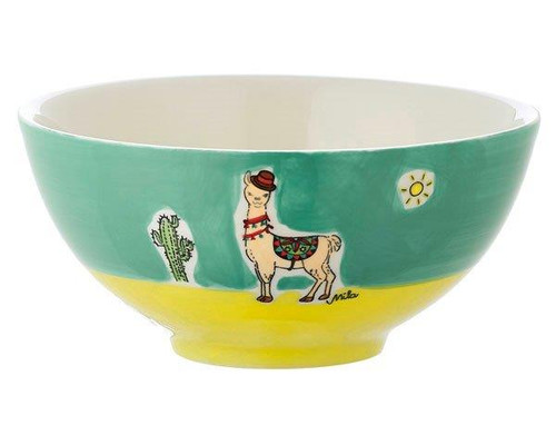 Bowl - Llama Spucki - diameter 16 cm - 7 cm high - ceramic