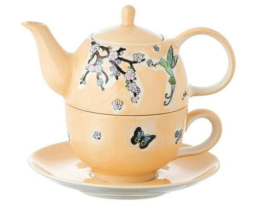 Tea for one Set - Hummingbird - 400 ml - ceramic - hand painted
