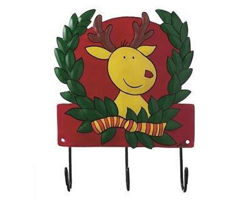 Wall hooks - Reindeer Herbert -hand painted metal