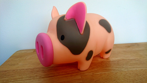 Piggy Banker - Money Box   orange-pink