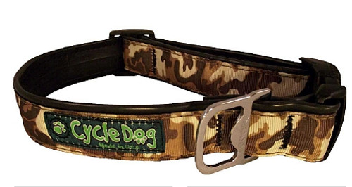 Cycle Dog - Brown Cameo - Dog Collar - Medium (30-53 cm) 13.5 - 34 kg