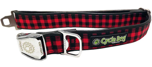 Cycle Dog - Red Plaid - Dog Collar - Large - (43-69 cm) >32 kg
