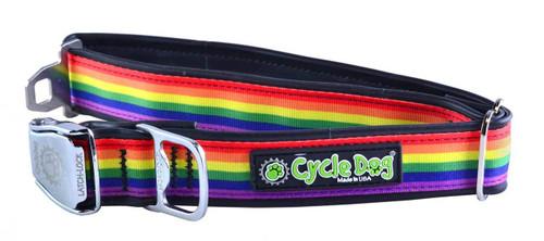 Cycle Dog - Rainbow Pride - Dog Collar - Medium (30-53 cm) 13.5 - 34 kg