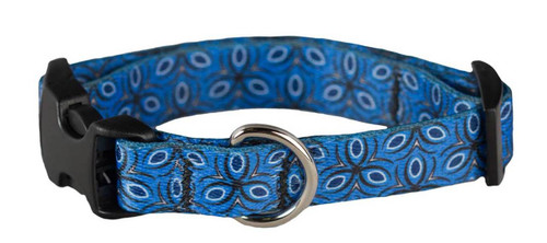 Cycle Dog - EcoWeave - Small Dog Collar - Blue Tri Style - (15cm-30cm)- for dogs up to 13.5kg