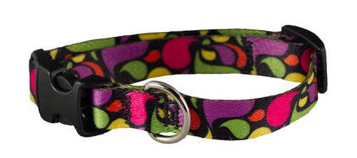 Cycle Dog - EcoWeave - Small Dog Collar - Multi Lava Lamp - (15cm-30cm)- for dogs up to 13.5kg