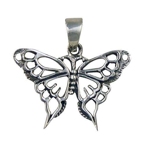 Butterfly Pendant - 3.5 cm - .925 Sterling Silver