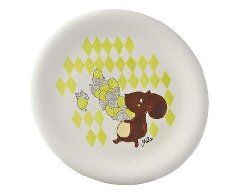 Plate - Squirrel Nick Nut - diameter 22 cm - ceramic
