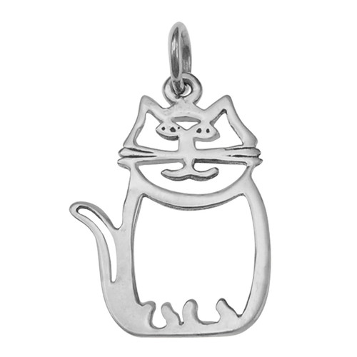 Cat pendant - 925 silver