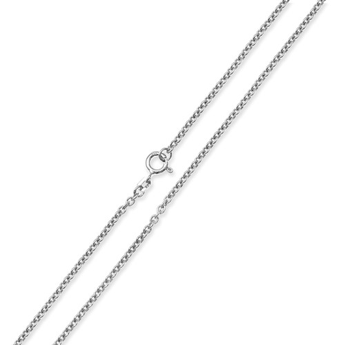 "Trace Rhodium Plate Chain -  2mm - 50cm/20"" - 935 Silver"