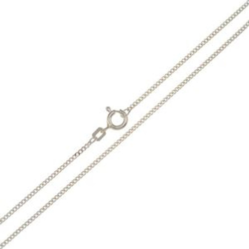 "Curb  - 1mm -  50cm/20"" -  935 Sterling Silver"