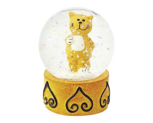 Mila Snow Globe Oommh cat / Yoga cat - 4.5 cm