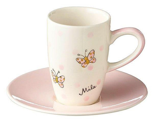 Butterfly Espresso Cup Set - hand painted - Ceramics