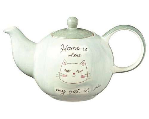 Mila Small Tea pot - Home is where my cat is - 0.6 L