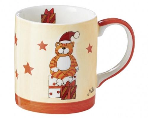 Mila Cat Mug - Oommh cat with presents - 280 ml - Christmas Mug