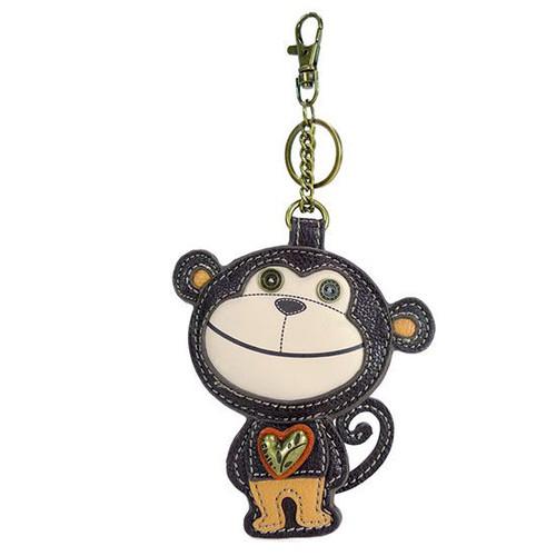 Keyring/Bag Charm - Smarty Monkey - Faux Leather