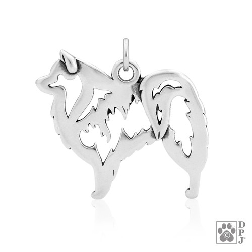American Eskimo, Body pendant - recycled .925 Sterling Silver