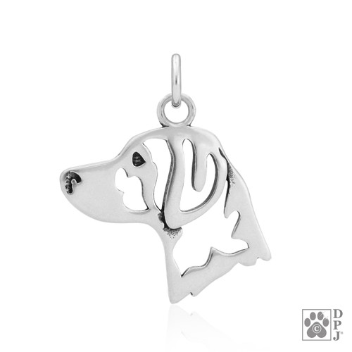 Brittany, Head pendant - recycled .925 Sterling Silver