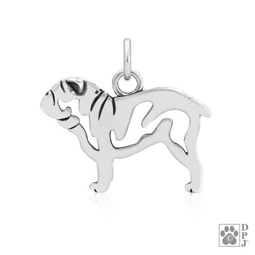 Bulldog, Body pendant - recycled .925 Sterling Silver