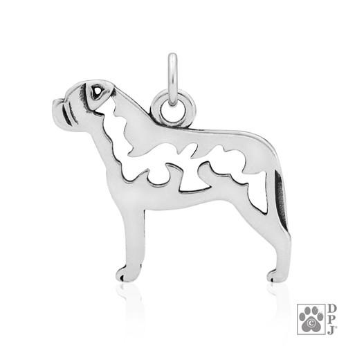 Bullmastiff body pendant, bullmastiff necklace, bullmastiff gift