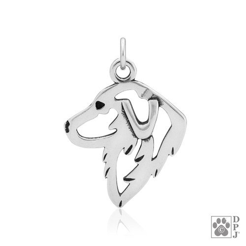 Great Pyrenees, Head pendant  - recycled .925 Sterling Silver