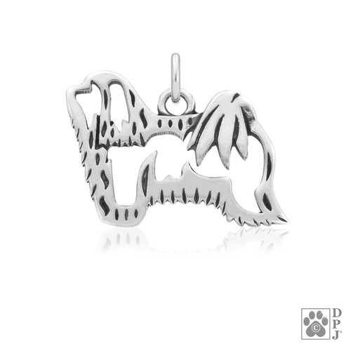 Havanese, Body pendant - recycled .925 Sterling Silver