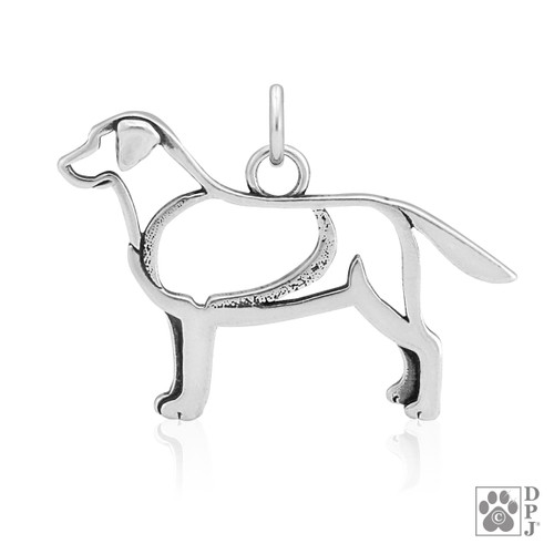 Labrador Retriever, Body pendant - recycled .925 Sterling Silver