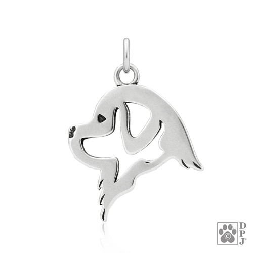 Newfoundland, Head pendant  - recycled .925 Sterling Silver