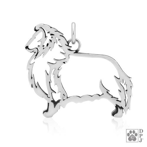 Shetland Sheepdog, Body pendant - recycled .925 Sterling Silver