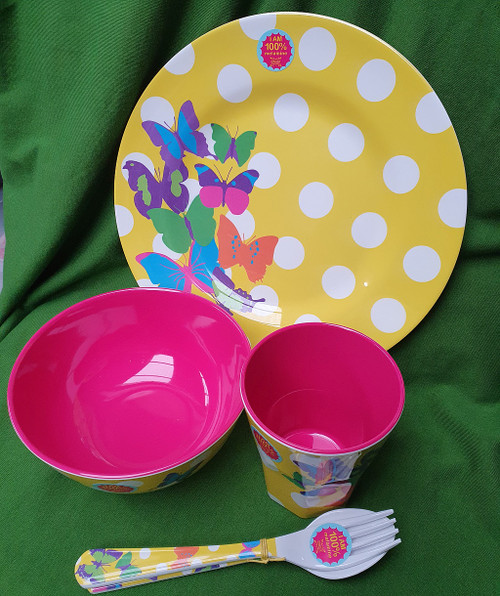 Ginger - Outdoor Tableware - Design Polka Dots - Set or individual items