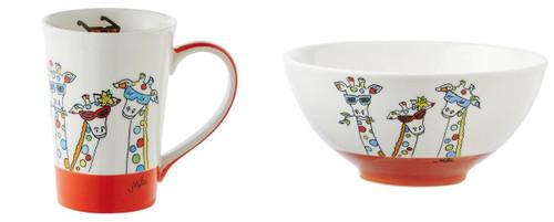 Mila Giraffe Breakfast Set - Mug and Bowl