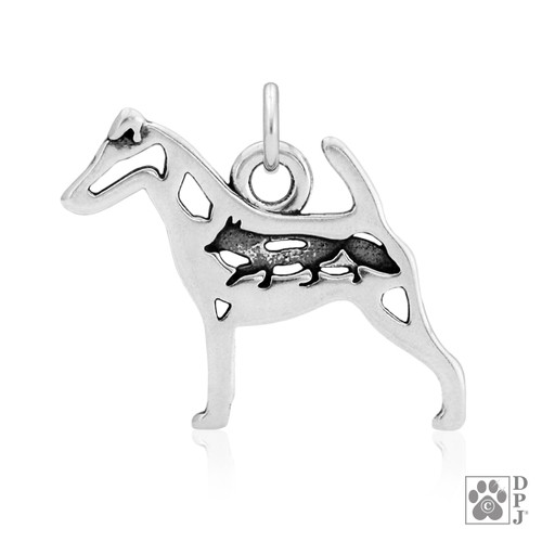 Smooth Fox Terrier, Body - Pendant - recycled .925 Sterling Silver