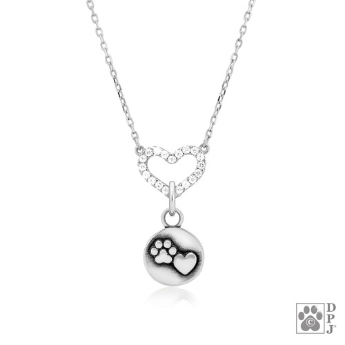 One Love Necklace with Close-to-my-heart pendant - recycled .925 Sterling Silver
