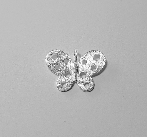 Butterfly pendant - .925 Sterling Silver - matted