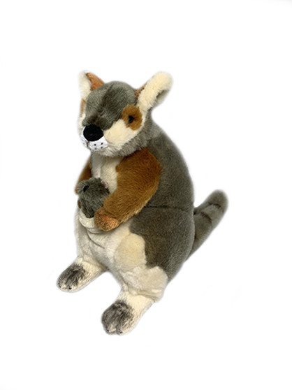 Rock Wallaby with Joey Plush Toy - 27 cm