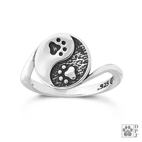 Yin and Yang Ring - 925 recycled Sterling Silver