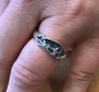 Ring - Border Collie Crouch - 925 Sterling Silver