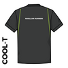 Rodillian Runners Black athletics Cool T-Shirt back image with printed club text and green detailing
