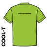 Rodillian Runners green athletics Cool T-Shirt back image with printed club text