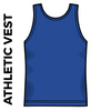 Roberttown Road Runners Royal athletics vest back image