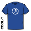 Roberttown Road Runners royal athletics Cool T-Shirt front image with printed club badge on chest