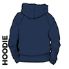 Roberttown Road Runners navy hooded top back image