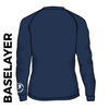 Roberttown Road Runners navy base layer back image